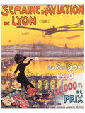 Semaine D'Aviation de Lyon Poster by Charles Tichon