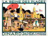 Dinard, La Reine Des Plages Poster by Kenneth D. Shoesmith
