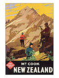 Mt. Cook, New Zealand Posters by L. C. Mitchell