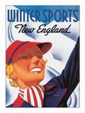Winter Sports, New England Posters by Sascha Maurer
