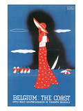 Belgium: The Coast Posters by Edgard Lemaire