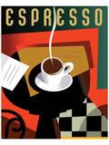 Cubist Espresso II Print by Eli Adams