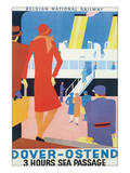 Dover-Ostend, Three Hours Sea Passage Posters