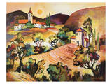 Tuscan Landscape 1 Prints by Warren Cullar
