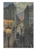 City Corner Plakater af Hans Baluschek