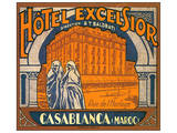 Hotel Excelsior, Casablanca, Maroc Plakater