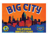 Big City California Bartlett Pears Print