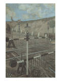 Railway Cycle: Boom Barrier Prints by Hans Baluschek