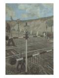 Railway Cycle: Boom Barrier Affischer av Hans Baluschek