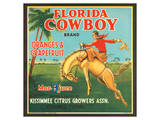 Florida Cowboy Brand Oranges & Grapefruits Posters