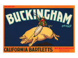 Buckingham Brand California Bartletts Poster