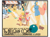 The Belgian Coast Posters by Frank Newbould