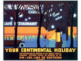 Your Continental Holiday Affiches
