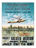 International Great Lakes Flying Boat Cruise, Chicago to Detroit, c.1913 Poster
