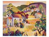 Tuscan Landscape 2 Poster by Warren Cullar