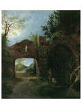 Landscape with Ruins Prints by Carl Blechen