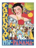 Carnaval, Panama, c.1937 Poster