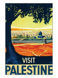 Visit Palestine Posters by Franz Kraus