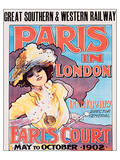 Paris In London, Great Southern & Western Railway Prints by Imre Kiralfy