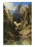 Valley near Amalfi Prints by Karl Blechen