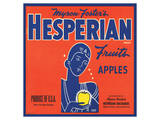 Myron Foster's Hesperian Brand Fruits Apples Posters