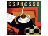 Cubist Espresso I Poster by Eli Adams