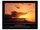 Genesis 1:3 Posters