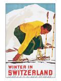 Winter in Switzerland Affiches par E. Hermes