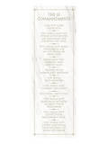 The 10 Commandments (white) Posters