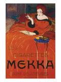 Les Cigarettes Mekka Print by Charles Loupot