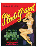 Plenti Grand Vegetables Prints