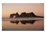Rock with a Hole in Sunset Prints