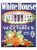 White House Vegetables Prints