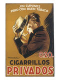 Cigarillos Privados Art by Achille Luciano Mauzan