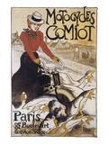 Motocycles Comiot Affiche par Théophile Alexandre Steinlen
