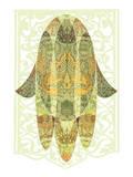 Hamsa Floralis Print