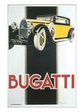 Bugatti Poster by René Vincent