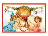Halloween Greetings 2 Prints by Frances Brundage