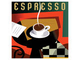 Cubist Espresso I Posters by Eli Adams