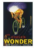 Les Cycles Wonder Sont Souples Et Rapides Print by Paul Mohr