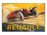 Renault Poster by De Bay