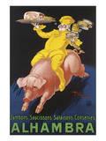 Alhambra Poster von Henry Monnier