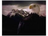 Eagle Mountain Poster von Steve Hunziker