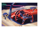 1958 Corvette Print by Graham Reynolds