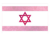 Pretty Pink Shield of David Print