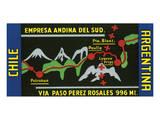 Chile, Argentina, Empresa Andina del Sud. Prints