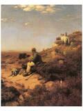 Heathland Shepherd Kunst van Eugen Bracht