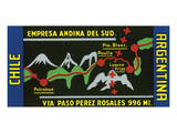 Chile, Argentina, Empresa Andina del Sud. Posters