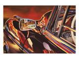 1956 Mercedes 220, Las Vegas Poster par Graham Reynolds