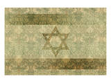Shield of David in Hazel and Green Print